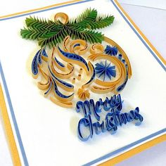 #Christmas #card #quilling #quillingart #paperquilling #handmade #papercraft #quillingcard