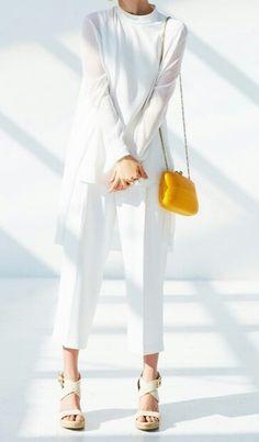 High neck sleeveless blouse, light v-neck long Cardigan, uniqlo
