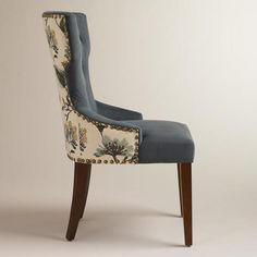 With a curvy, keyhole silhouette, our Atlantic Floral and Bird Maxine Dining Chair brings stylish sophistication to any space. Gray Dining Chairs, Bentwood Chairs, Fabric Dining Chairs, Wooden Dining Tables, Upholstered Dining Chairs, Furniture Fix, Reupholster Furniture, Dining Chair Makeover, World Market Dining Chairs