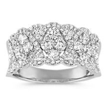 Contemporary Round Diamond Ring in 14k White Gold Image