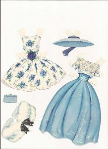 dresses for 1963 Barbie paper doll