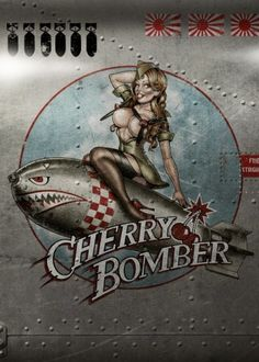 pinup cherry bomber girl retro vintage nose art Characters