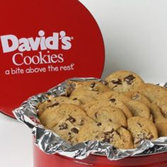 Davids Cookies Chocolate Chunk Fresh Baked Cookies 2 Lb Gift Tin ** More info could be found at the image url.