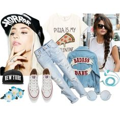 Sport Style by meldin on Polyvore featuring H&M, Converse, Suicidal Tendencies, Stampd and FOSSIL