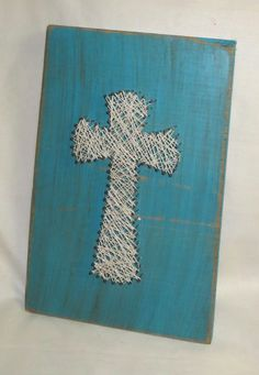 Small Cross String Art by BurlapandLovely on Etsy, $20.00