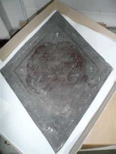 18th century Coffin plate Martha Marsh's coffin plate dating to 1775