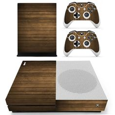 Wooden board board design skin decal for xbox one S console and 2 controllers