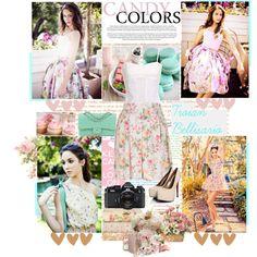 Troian Bellisario   Floral & Pastel Look