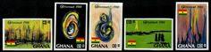 Ghana Stamps - Sc.# 1068-72 - Christmas 1988 Imperf