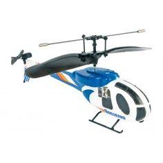 """Infrarot Helikopter, blau - Hat man den """"Dreh"""" erst einmal raus, bringt der kleine Helikopter aus Styropor mächtig viel Spaß! Der E-Motor ist leise und leistungsstark für tolle Flugmanöver. Der Ladevorgang des Helis erfolgt über die Infrarot-Fernbedienung (ca. 15 x 12 cm). Inkl. einem Ersatz-Heckrotor. ca. 16 x 7 x 17 cm"""