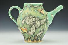 Testudine Thea  #CJNiehaus #porcelain #ceramics #turtle