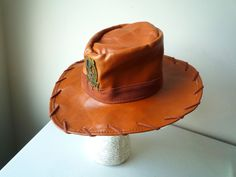 Authentic Toy Story Woody Sheriff Cowboy Hat - Disney Parks Faux Leather Youth #halloween #woody #toystory #sheriffhat #cowboyhat #freeshipping #onsale