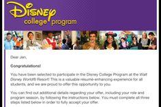 Getting into the Disney College Program