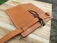 Tan Veg Tanned Leather Long Wallet Hand Stitch от HardyLeather