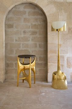 Philippe Hiquily - Side Table and Floor Lamp, 1980s