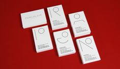 business cards for Porcelain Studio. In-house design.
