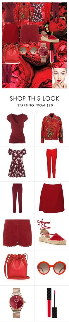 """Red Outfit"" by oroartye-1 on Polyvore featuring Dolce&Gabbana, New Look, Massimo, RED Valentino, Moschino, Vanessa Bruno, Soludos, Mansur Gavriel, Alexander McQueen and Thomas Sabo"