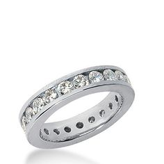 1.50 CT G SI Round Cut Diamond Eternity Ring by GetDiamondsDirect, $836.99