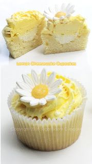 Lemon Cheesecake Cupcakes with White velvet Cupcake Base