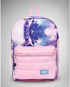 Puffed Cotton Candy Cloud Backpack - Spencer's