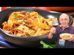 Today I want to share with you my Pappardelle Bolognese recipe! This is the Sout… Today I want to share with you my Pappardelle Bolognese recipe! This is the Southern Italian style where we don't add carrots and celery. Pasta Recipes, Dinner Recipes, Cooking Recipes, Italian Dishes, Italian Recipes, Pappardelle Pasta, Homemade Tomato Sauce, Bolognese Sauce, Recipes