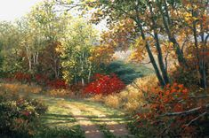 Enchanced giclee' on canvas of a rural Wisconsin Trail. Original Printmaking