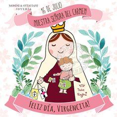 Hoy es el día de la Virgencita del Carmen ❤ Madre nuestra, te saludamos en tu día!  Sabías que el escapulario representa su hábito? Es un regalo de la Virgen para que todos los devotos podamos llevarlo simbolizando nuestra consagración hacia ella.  Feliz día, Virgencita! ¡ Felicidades a quienes llevan su nombre !