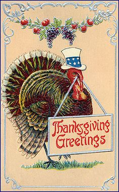 Uncle Turkey Vintage Thanksgiving Postcard