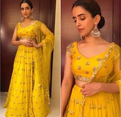 Classic yellow perfect for this festive season. Work of zardose and stones give roya classic look. Indian Fashion Trends, Indian Fashion Designers, India Fashion, Indian Designer Wear, Indian Wedding Gowns, Indian Dresses, Indian Outfits, Indian Weddings, Pattu Saree Blouse Designs