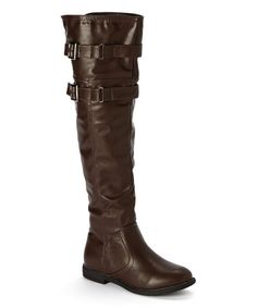 This Brown Sydney Over-the-Knee Boot by Shoevibe is perfect! #zulilyfinds