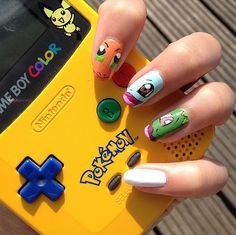 These Pokemon nails are next level.