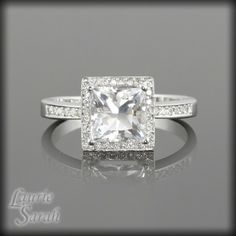 Diamond Engagement Ring With Sapphires Princess Di 21
