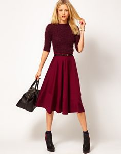 Enlarge ASOS Midi Skirt In Ponte--I want one of these in each color :)