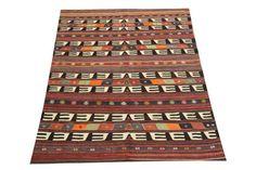 Vintage Turkish Kilim rug 75 x 55 Feet Ethnic by kilimwarehouse, $420.00