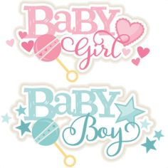 Baby Girl and Boy Titles SVG scrapbook cut file cute clipart files for silhouette cricut pazzles free svgs free svg cuts cute cut files Dibujos Baby Shower, Imprimibles Baby Shower, Baby Girl Clipart, Baby Shower Clipart, Baby Svg, Baby Silhouette, Baby Motiv, Moldes Para Baby Shower, Baby Boy Scrapbook