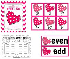 Even and odd! Oh So Sweet Valentine's Day Centers!