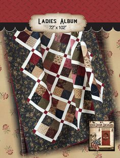 Ladies Album Quilt Kit by myreddoordesigns on Etsy