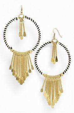 Spring Street 'Tribal' Hoop Earrings available at #Nordstrom