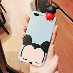 CASESOPHY Pop Corn Case for iPhone 7 iPhone Large Size Screen Soft Silicone Rubber Cartoon Cool Fun Bold Cute Fashion Hot for Girls Teens Kids - Blue MickeyMouse topcellulardeals. Compatible phone models: iPhone 7 Plus, iPhone 8 Plus (can not fit iPho Cheap Iphone 7 Cases, Funny Iphone Cases, Iphone 6 Plus Case, Iphone Phone Cases, New Iphone, Coque Smartphone, Coque Iphone, Cute Cases, Cute Phone Cases
