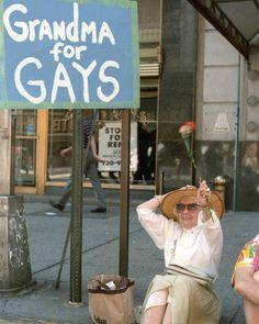 AdorableGay & Lesbian Pride in NYC. 1986. #gaypride #grandmaforgays #1986