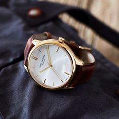 Gold on blue #LW20 www.larsenwatches.com