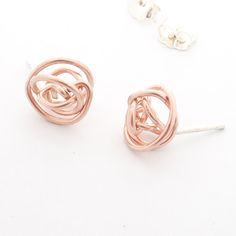 Twisting  up plenty of rose gold Nest Earrings for #sowaholidaymarket this weekend!!!