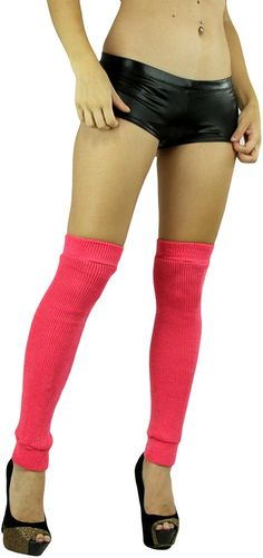 ToBeInStyle Women's Sexy Soft Knit Thick Knee High long Leg Warmers - Neon Pink - One Size: Regular. Pull-on closure. Excellent choice for clubwear or any dancing activities. Knee high. Soft Knit. One Size Fits Most: 5 ft. - 5 ft. 10in. (100 - 175 lbs). Available Color Options: Black, Lavender, Neon Green, Neon Orange, Neon Yellow, Neon Pink, Purple, Turquoise, or White. Materials: 97% Aryclic, 3 % Nylon. Machine wash cold. Do not bleach. Air Dry Only.