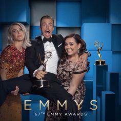 #Emmys horseplay with @juleshough, @derekhough, @tessandrachavez (@dancingabc) after their #Choreography #EmmysArts win! #dwts #cinemagraph by @FlixelPhotos