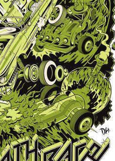 CHAMPS GLASS GAMES & Death Race 2013 by Dane Holmquist, via Behance