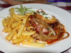 Plato combinado #bratislava #eslovaquia http://www.pacoyverotravels.com/2014/05/comer-bratislava-restaurante-slovak-pub.html