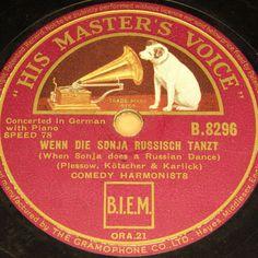 """COMEDY HARMONISTS  Wenn die Sonja russisch tanzt  Berlin 1934 HMV #78rpm 10"""" #Schellackplatte"""