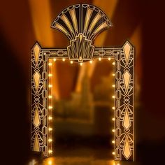 prom themes Fancy FanFlair Art Deco Arch Kit With Lights-Prom Decorations Great Gatsby Motto, Great Gatsby Theme, Gatsby Themed Party, Gatsby Wedding, Wedding Vintage, 1920s Theme, Themed Parties, Vintage Weddings, Lace Weddings