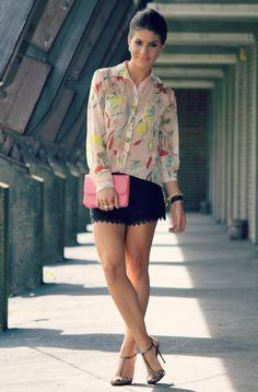 CC floral blouse