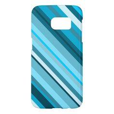 Ocean-Inspired Blue/Teal/Aqua Stripes